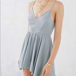 Urban Outfitters Vanessa Cupro Romper Dress